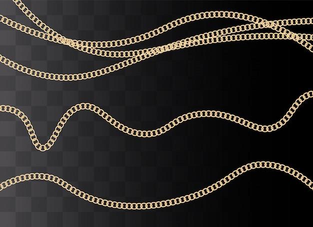 Sfondo di moda con catena d'oro