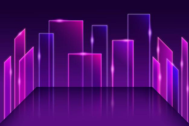 Sfondo di modelli geometrici di luci al neon