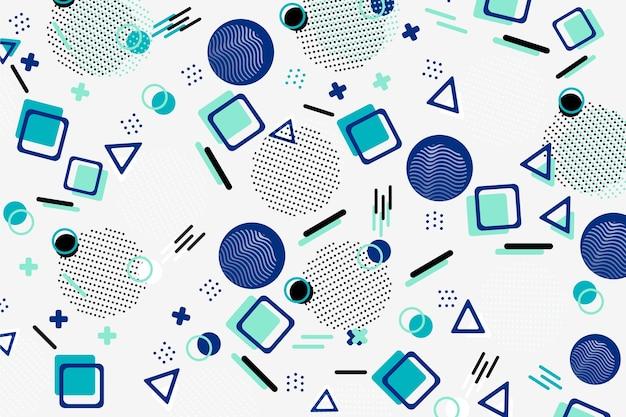 Sfondo di modelli geometrici piatti
