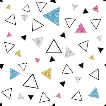 Sfondo di modello triangolo colorato glitter senza soluzione di continuità