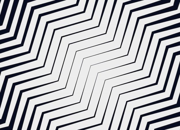 Sfondo di modello vettoriale a zig-zag diagonale