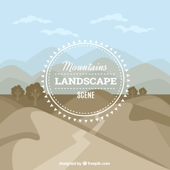Sfondo di montagne con percorso