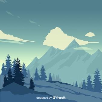 Sfondo di montagne di paesaggio