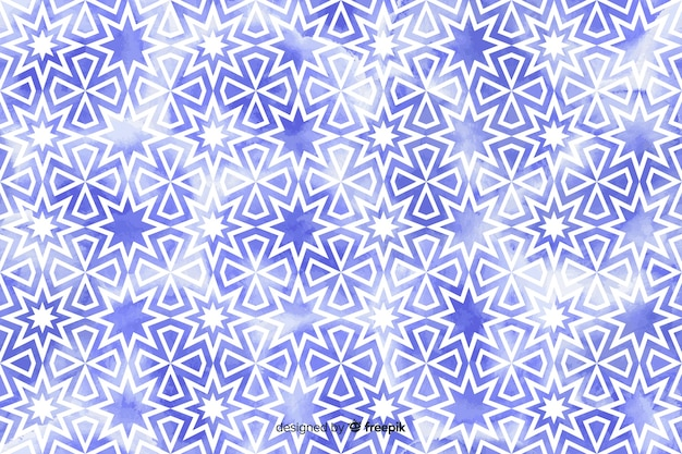Sfondo di mosaico floreale dell'acquerello