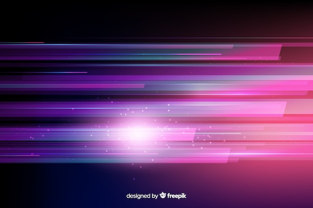 Sfondo di movimento di luce intensa