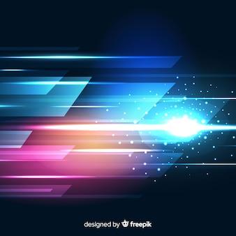 Sfondo di movimento rapido raggio di luce