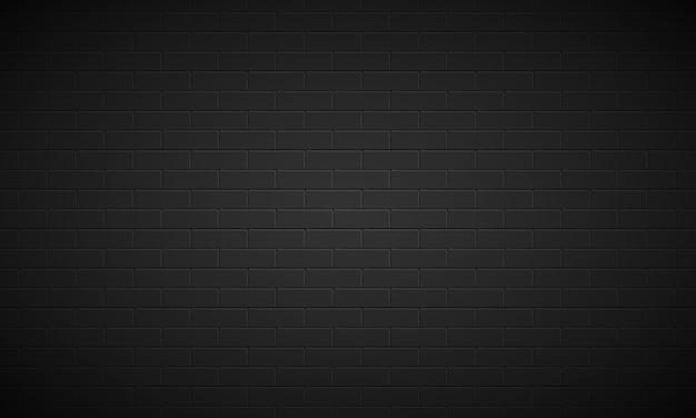 Sfondo di muro di mattoni nero realistico