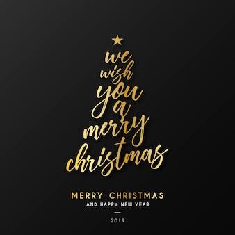Sfondo di Natale con citazione d'oro