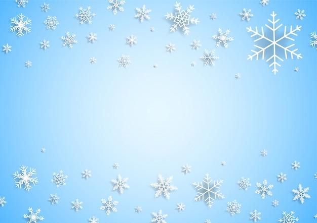 Sfondo di natale con fiocchi di neve