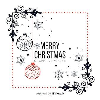 Sfondo di Natale disegnato a mano