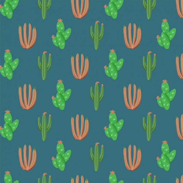 Sfondo di natura con cactus di vernice