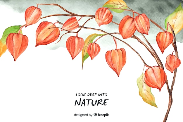Sfondo di natura floreale con citazione