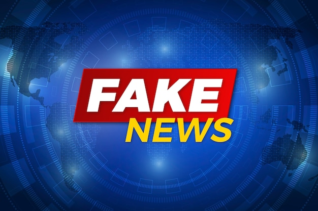 Sfondo di notizie false