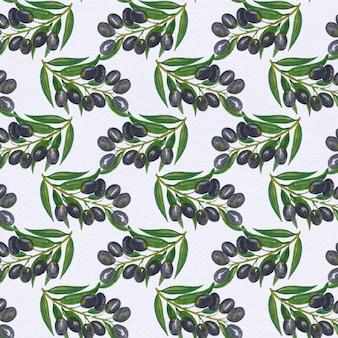 Sfondo di olive di pattern