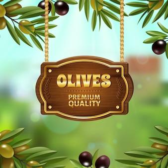 Sfondo di olive di qualità premium