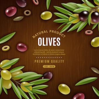Sfondo di olive naturali