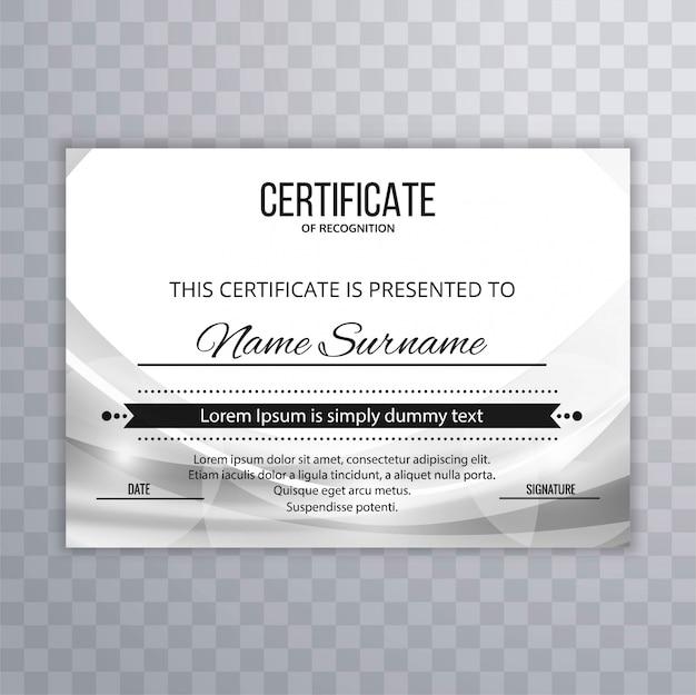 Sfondo di onda moderna certificato