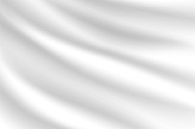 Sfondo di onde bianco latte sembra morbido, come un panno bianco ondeggiante.