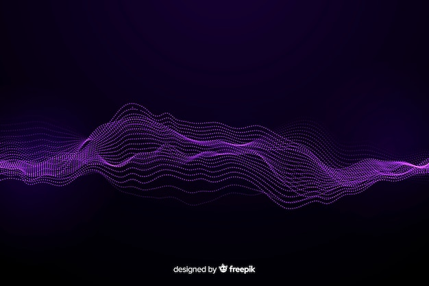 Sfondo di onde di particelle astratte equalizzatore