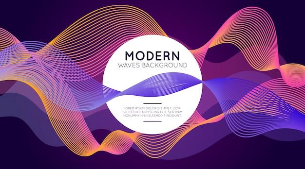 Sfondo di onde moderne
