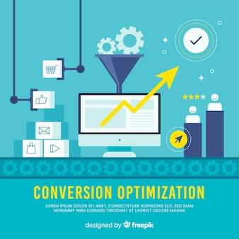Sfondo di ottimizzazione del marketing
