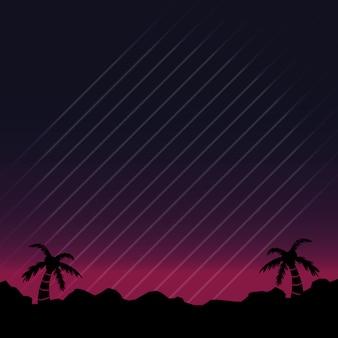 Sfondo di paesaggio al neon