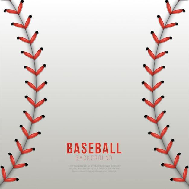 Sfondo di palla da baseball lacci