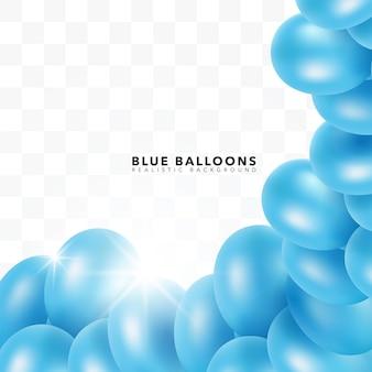 Sfondo di palloncini blu