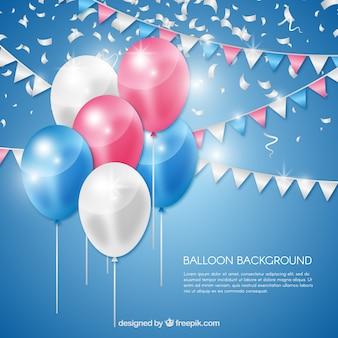 Sfondo di palloncini colorati in stile realistico
