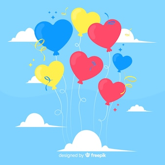 Sfondo di palloncini cuore