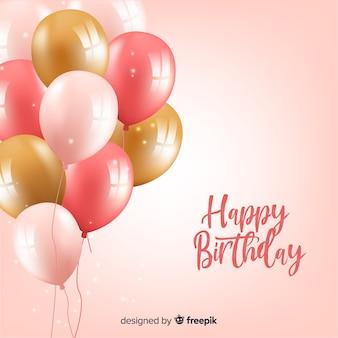 Sfondo di palloncini di compleanno