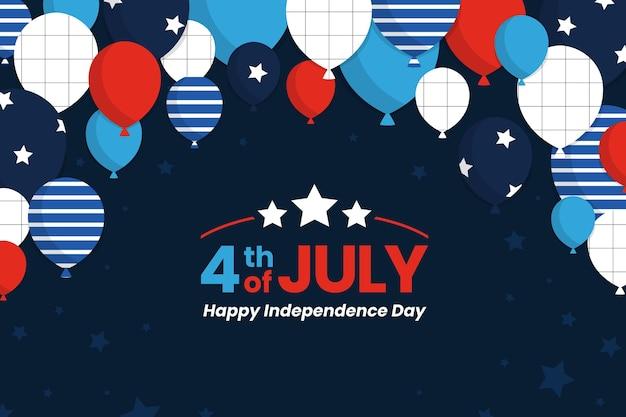 Sfondo di palloncini festa dell'indipendenza