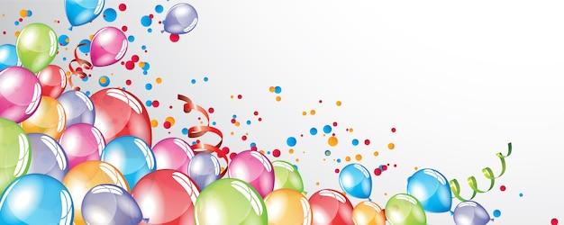 Sfondo di palloncini festosi