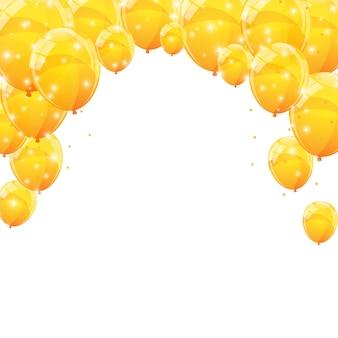 Sfondo di palloncini lucidi di colore