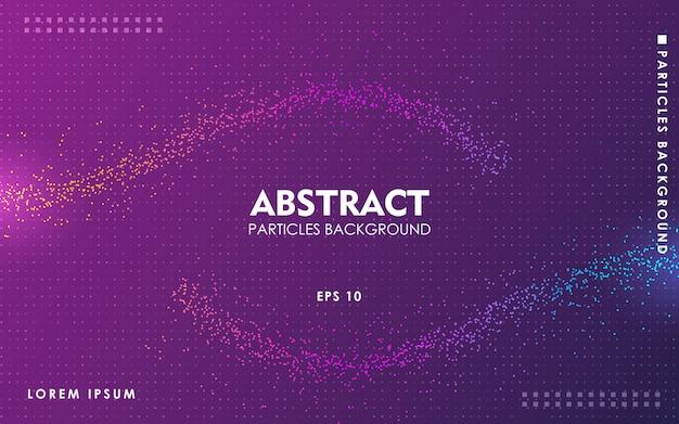 Sfondo di particelle di colore astratto dinamico