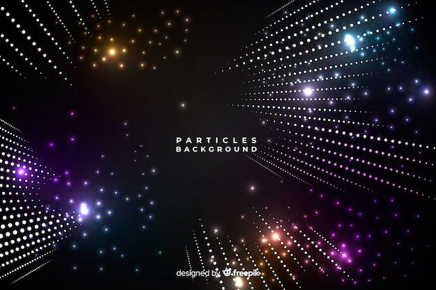 Sfondo di particelle di luce
