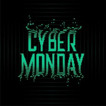 Sfondo di particelle di lunedì di stile futuristico cyber