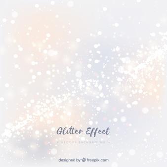 Sfondo di particelle glitter bianco