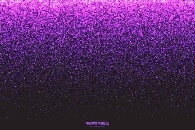 Sfondo di particelle incandescente luccicante viola