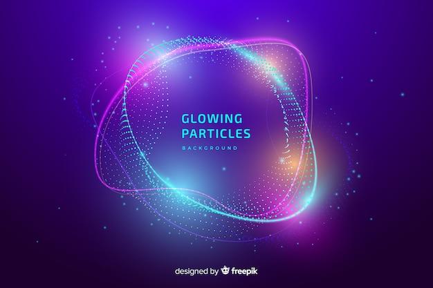 Sfondo di particelle incandescente