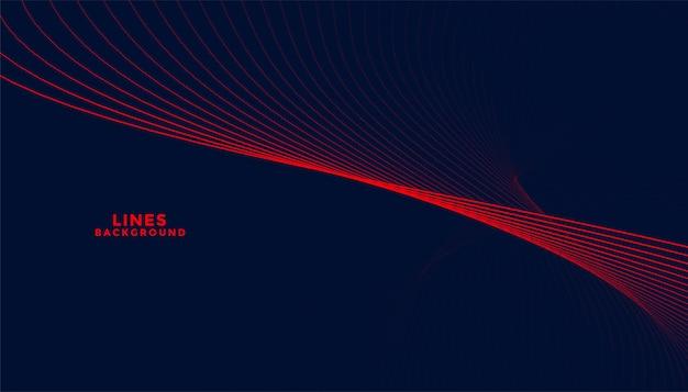 Sfondo di particelle scure con forme ondulate rosse