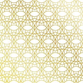 Sfondo di pattern ovali dorati