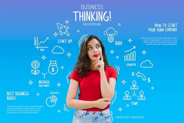 Sfondo di pensiero aziendale