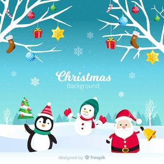 Sfondo di personaggi natalizi