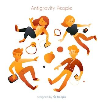 Sfondo di persone antigravità