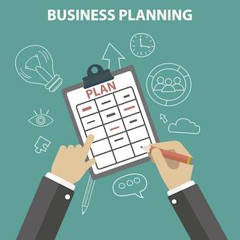 Sfondo di pianificazione aziendale