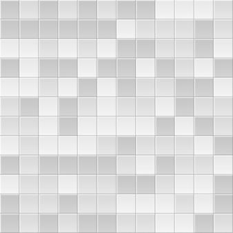 Sfondo di piastrelle. blocco modello astratto. trama di mattoni. piastrelle quadrate. colori bianchi, grigi.