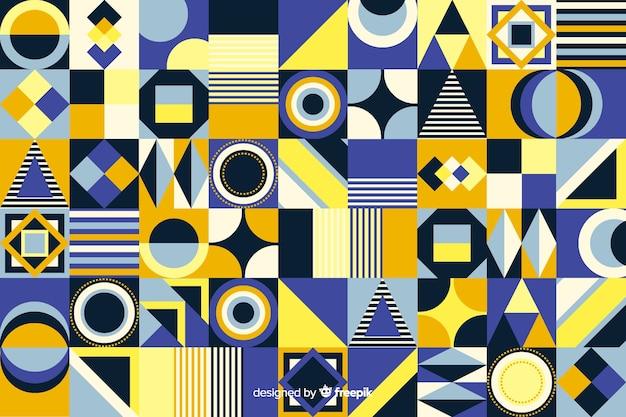 Sfondo di piastrelle mosaico geometrico piatto