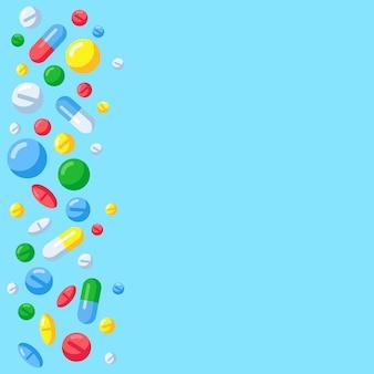 Sfondo di pillole farmaceutiche