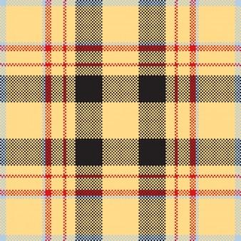Sfondo di pixel. plaid moderno senza cuciture. . tessuto scozzese scozzese. ornamento madras di bellezza colore.